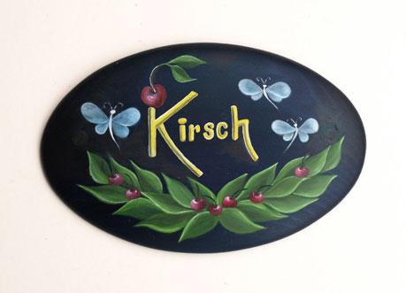 Namensschild der Familie Kirsch